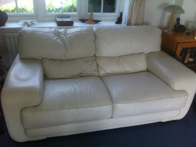 White Leather Furniture Restoration Berkshire Hampshire Wiltshire Surrey
