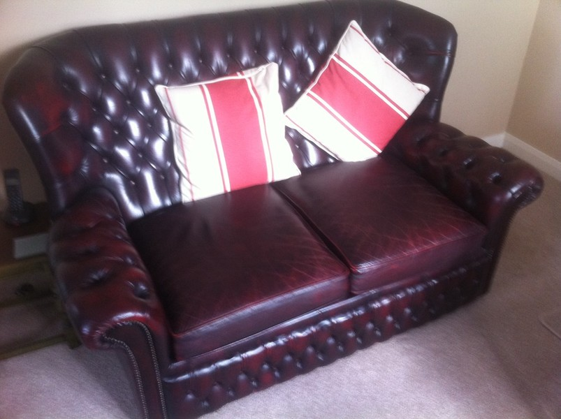 Chesterfield Leather Sofa Restoration Berkshire Hampshire