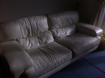 White Leather Furniture Restoration Berkshire Hampshire